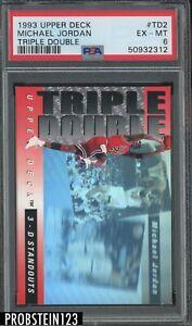 1993-94 Upper Deck Triple Double Michael Jordan Chicago Bulls HOF PSA 6