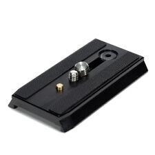 Negro Quick Release Placa for Manfrotto 503 / 701HDV MVH5 / 400AH #RY50 Recambio