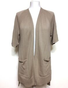 WOMEN'S H BY HALSTON SHORT SLEEVE KNITTED CARDIGAN COVER UP SIZE SMALL BNWOT