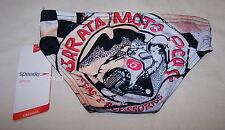 Speedo Endurance Motocross Boys Black Printed Racer Brief Bathers Size 6 New