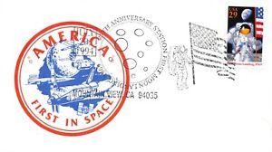 25th ANNIV. APOLLO 11 COLORFUL CACHET 7/20/94 FD USE MOUNTAIN VIEW, CA SC#2841a