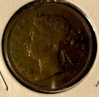 Malaysia -British Straits Settlements 1873 1 Cent Bronze Collectible Coin~ KM#9