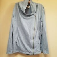 C.A.S.L.O.N Women's Light Blue Cowl  Neck Zipper Side Sweater Size XL