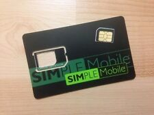 PREPAID Simple Mobile MICRO Sim Card GSM T-MOBILE NETWORK Samsung S3 S4 Note 3/4
