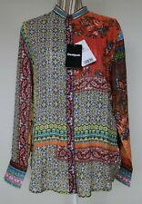 Desigual Womens Multi Coloured Patterned Boho Top Blouse Size XL UK 16