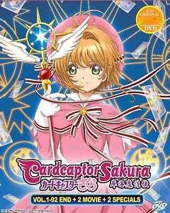 Anime DVD Cardcaptor Sakura TV 1-92 END + 2 Movies + 2 SP+ ENG Dubbed