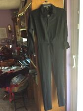 NENE..2..JUMPSUIT ..BLACK..90%POLY5% SPANDEX..ZIP FRONT..LACE YOKE..VERY  NICE