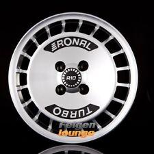 4 Alufelgen RONAL R10 TURBO Schwarz Frontkopiert 7x15 ET28 4x100 ML68 NEU
