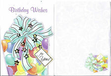 Lot 3 Greeting cards + 3 envelope, Happy Birthday Flower Wishes cake Candles
