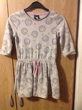 Girls Grey Hello Kitty Print Dress Age 7/8 Years