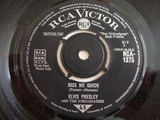 Elvis Presley 45 Kiss Me Quick/Something Blue (RCA Victor 1375, UK)