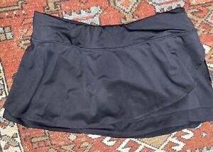 Athleta Black FLY BY Swagger Tiered Tennis Skort Skirt XL EUC