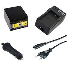 Batteria Patona + caricabatteria casa/auto per Sony DCR-SR72,DCR-SR75,DCR-SR77