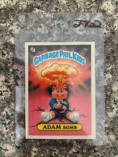 1985 TOPPS GARBAGE PAIL KIDS #8A ADAM BOMB CHEATERS BACK  NM/MT+ KRC-2762