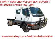 FRONT + REAR GREY VELOUR SEAT COVER FIT MITSUBISHI CANTER DUAL CAB 1999 - 2006