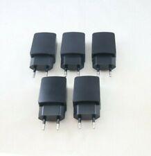 180 x Quality EU 2 Pin USB Mains Charger - Black 5V 2A 2000mAh Travel Charger