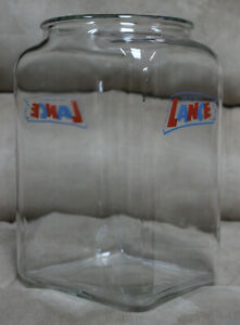 """LARGE VINTAGE """"LANCE"""" COOKIE DISPLAY JAR - EXCELLENT CONDITION- 13"""" TALL- NO LID"""