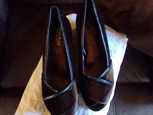 Women's TARYN ROSE brown velvet wedge
