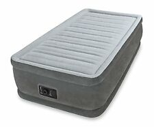 Inflatable Air Bed Mattress Airbed Twin Size Built In Electric Pump Raised Guest