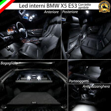 KIT FULL LED INTERNI ABITACOLO BMW X5 E53 CON TETTO PANORAMICO CANBUS 6000K
