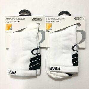 2 Pearl Izumi Womens Elite Tall Socks Fast Drying Mesh Ventilation White S 5-7