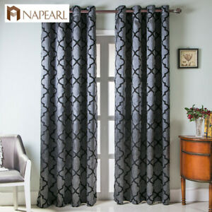 NAPEARL 1 Panel Striped Quality Curtain Plaid Fabric Drapes Bedroom Window Shade