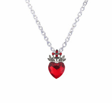 Necklace Descendants Red Heart Jewelry Crown Necklace Queen of Hearts Costume