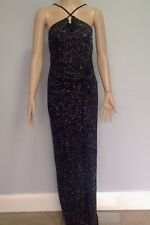 Lipsy  Glitter Maxi Dress Black Size 10