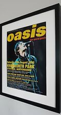 Oasis-Knebworth PRINT Luxury Framed-Certificate-NEW-RARE-Noel Gallagher-LARGE