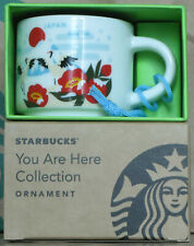 Starbucks You Are Here YAH Ornament City Mug Japan Winter, 2 oz neu mit Stick