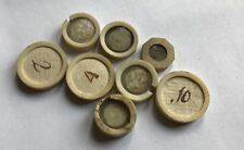 Small Selection of 18th Century Antique Microscope Slide Cells