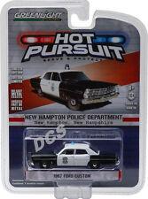 1967 Ford Custom New Hampton New Hampshire Police Car 1/64 By Greenlight 42770 B