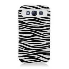 For Samsung Galaxy S 3 III TPU Candy HYBRID GLOW Case Phone Cover Zebra White