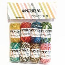 MONDIAL AMIGURUMI SET 100% Baumwolle Häkelset MULTICOLOR printed cotton yarn