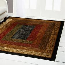 "Oriental Black Carpet 4X6 Small Persien Area Rug 19 - Actual 3' 6"" x 5' 2"""