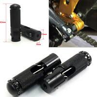 Black CNC Motorcycle Foot Peg Kit Footrest 8mm Bolts For Honda Yamaha Kawasaki