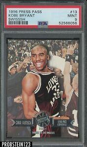 1996 Press Pass Swisssh #13 Kobe Bryant Los Angeles Lakers RC Rookie HOF PSA 9