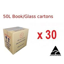 30x book/wine Cardboard Packing Removal Moving Boxes Storage Heavy Duty Carton