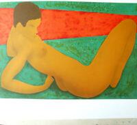 BONNEFOIT Lithographie Originale Signée au Crayon 37x54cm MODÈLE NUE 1974