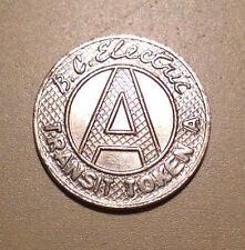 "Canada BC Electric Railway Class ""A"" Fare Transit Token"