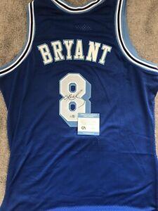 Kobe Bryant Signed Throwback Jersey (COA)