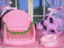 Fisher Price Loving Family Dollhouse Pink Booster Seat Feeding Set Baby Toy Lot
