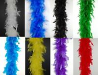 """'CHANDELLE FEATHER BOA Top Quality 65 Gram 72""""  MANY COLORS (Halloween/Costume)"""