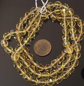 Amazing 8mm Trade Czech Honey fire Polished Glass beads-25 Beads