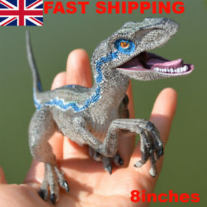 XXL Velociraptor Jurassic World Toy Model Blue Raptor Dinosaur Figure Kids Gift