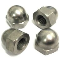M10 x 1.25mm FINE PITCH Dome Nuts - 303 Stainless Steel Nut BRITISH MANUFACTURED