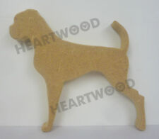 BOXER DOG WITH TAIL SHAPE IN MDF (140mm x 18mm thick)/WOODEN CRAFT SHAPE