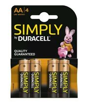 Duracell Simply AA 4 Pack Alkaline 1.5v LR06 MN1500 - Quality Guaranteed