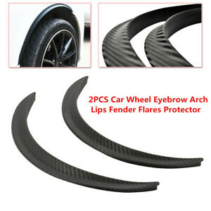 2PCS Car Wheel Eyebrow Arch Trim Lips Fender Flares Protector Mud Dirt Scratch