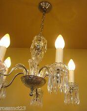 Vintage Lighting 1940s crystal chandelier